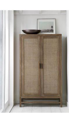 Blake Grey Wash Cabinet - Crate and Barrel Blake Grey, Resurface Countertops, Media Room Design, Diy Home, Home Decor, Spanish Style Homes, Interior Decorating, Interior Design, Grey Wash
