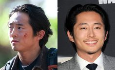"The ""Walking Dead"" cast makes a living killing zombies, but who knew they could kill it on the red carpet as well. Check out your favorite ""Walking. Walking Dead Funny, Walking Dead Cast, Walking Dead Season, Walking Dead Premiere, Steven Yuen, Walking Dead Characters, Glenn Rhee, Best Zombie, Television Program"