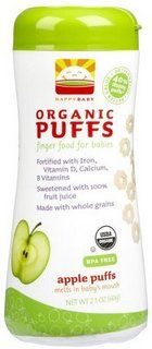 Allergy Tots Dairy free, gluten free, egg free, corn free & soy free Happy Baby Organic Apple Puffs
