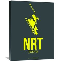 Naxart 'NRT Tokyo Poster 2' Graphic Art on Wrapped Canvas Size: