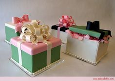 Gift Box Cake Centerpieces - Perfect for Bridal Showers