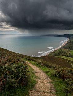 Storm over Lyme Bay, Dorset, England