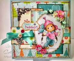 New stamp from the Winter Wonderland collection from Magnolia stamps