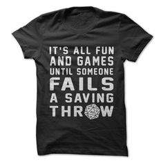 Failed Saving Throw T-Shirt - Geeky Shirts - Ideas of Geeky Shirts - Dnd Shirts, Dnd Funny, Funny Geek, Hilarious, Nerd Crafts, Diy Crafts, Dragon Party, Nerd Geek, Funny Shirts
