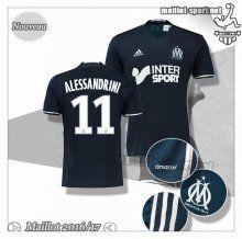 Maillots-Sport: Créer Maillot De Foot Marseille OM Alessandrini 11 Exterieur 2016 2017