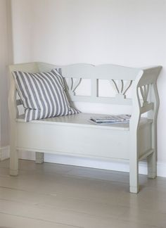 Our beautiful Hungarian small Settle Storage Bench is steeped with character and practicality, with ample storage under its hinged seat, it comfortably seats 2 people.