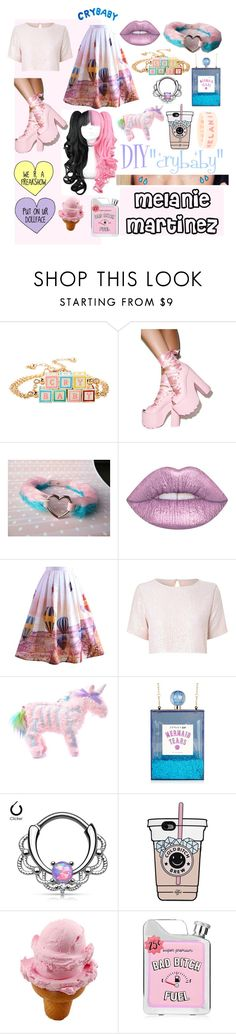"""DIY Halloween Costume Crybaby Melanie Martinez"" by deisyvegaa ❤ liked on Polyvore featuring Y.R.U., Lime Crime, Chicwish, True Decadence, Current Mood, halloweencostume, Crybaby and DIYHalloween"