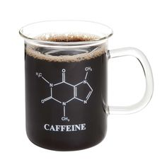 This science coffee mug does what any good kitchen scientist wants it to: create caffeinated scientists. Find this Caffeine Beaker Mug and more kitchen science fun at ComputerGear.com