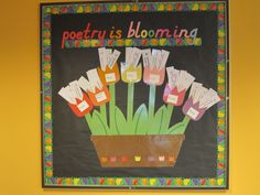 Bulletin board to go with poem in your pocket day.