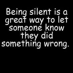 Being Silent Is A Great