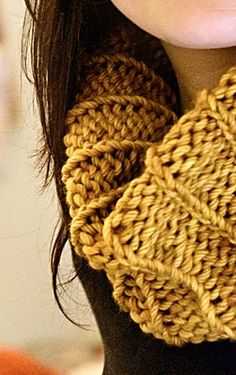 Cowl - so simple to knit. Sometimes the less complicated the pattern the more beautiful the individual stitches appear.