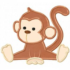 Love this monkey so so cute !! I would put it on a onesie !!