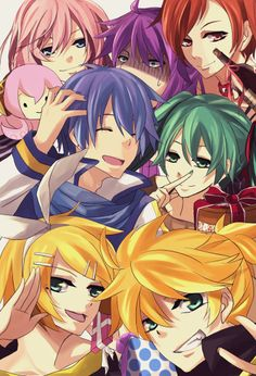 Megurine Luka, Kamui Gakupo, Meiko, Kaito, Hatsune Miku, Kagamine Ren, & Kagamine Len...