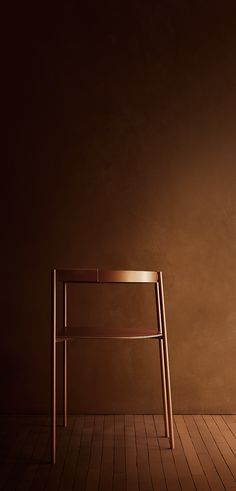 Offset chair cognac
