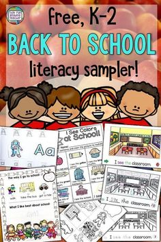 Free Back to School Literacy Sampler - Education and lifestyle Kindergarten Lesson Plans, Kindergarten Activities, Classroom Activities, Kindergarten Literacy, Primary Teaching, Teaching Resources, Teaching Ideas, Free Education, Primary Education