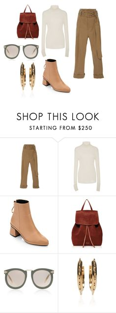 """""""Sin título #11219"""" by ceciliaamuedo ❤ liked on Polyvore featuring Sea, New York, Tory Burch, Mansur Gavriel and Karen Walker"""