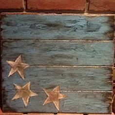 Stars on old wood