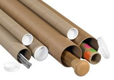 Kraft Mailing Tubes - These economical kraft mailing tubes are ideal storing and mailing documents.