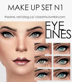 Cloe Sims: Makeup set N1 • Sims 4 Downloads