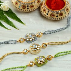 Handmade Rakhi Designs, Handmade Design, Rakhi Photo, Rakhi Making, Easy Art For Kids, Rakhi Online, Kundan Bangles, Rakhi Gifts, Hand Embroidery Videos