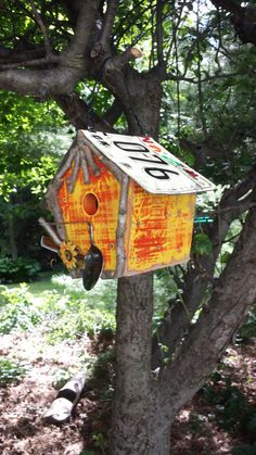 Rustic Birdhouse Wisconsin license plate by RusticCabinManCave, $30.00