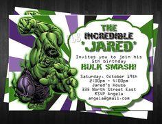 Resultado De Imagen Para Hulk Invitations Incredible Party Birthday Parties Boy