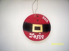 Hand Painted Wooden Christmas Ornament in Uniquely You Decor