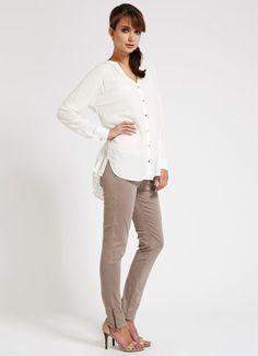 Caramel Ankle Zip Jeans
