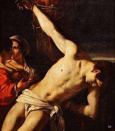 St.Sebastian. 17th.century. Angelo Caroselli. Italian. 1585-1653. oil on canvas. http://hadrian6.tumblr.com