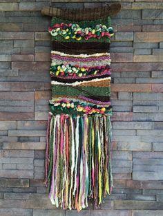 Weaving woven wall hanging visit my Etsy Shop Telares y Flecos Weaving Textiles, Weaving Art, Weaving Patterns, Tapestry Weaving, Loom Weaving, Hand Weaving, Weaving Wall Hanging, Tapestry Wall Hanging, Wall Hangings