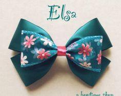 arco del pelo de Elsa por abowtiqueshop en Etsy