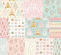 Lucie Crovatto Girl Cotton Fabric Bundle Pastels Quilting by MountainFabrics