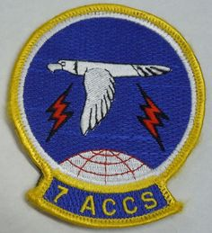 USAF MILITARY PATCH w/hook/loop backing 7th AIRBORNE COMMAND CONTROL SQUADRON
