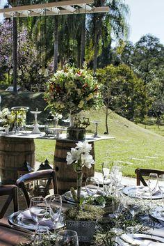 Barril -  mesa de doces - casamento no campo - casamento de dia  www.panachedecora.com