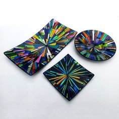 Dichroic Glass Smaller Bowls Selection