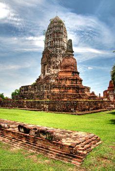 temple at ayutthaya, Thailand.