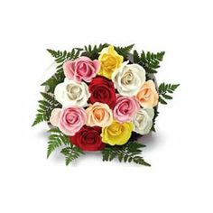 Midnight Multicolor roses and flowers online in Hyderabad