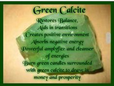Green calcite Chakra Crystals, Crystals Minerals, Crystals And Gemstones, Stones And Crystals, Gem Stones, Healing Rocks, Crystal Healing Stones, Green Calcite Meaning, Crystal Meanings