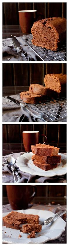 Loaf of Coffee and Chocolate Cake Recipe