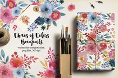 Graphic Design - Graphic Design Ideas  - Chaos of Colors Bouquets by Webvilla on Creative Market...   Graphic Design Ideas :     – Picture :     – Description  Chaos of Colors Bouquets by Webvilla on Creative Market  -Read More –