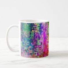 Multicolored beautiful modern art mug - decor gifts diy home & living cyo giftidea Modern Art, Coffee Mugs, Tableware, Gifts, Diy, Beautiful, Color, Design, Dinnerware