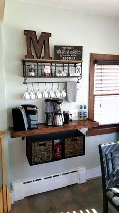 Coffee; Coffee Bar; Home Decoration; Corner Decoration;Storage; Shelf; Family Coffee Bar; Family Bar;Coffee Bar Design; Coffee Idea; Coffee Bar DIY;Kitchen Coffee Bar; Small Coffee Bar; Mini Coffee Bar