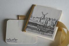 """Minialbum """"Bonn"""": aus einem Bogen, mit Reprint alter Stiche - viele weitere Motive möglich! (ca. 8x8cm, 5 Doppelseiten, Einsteckkarte)"""