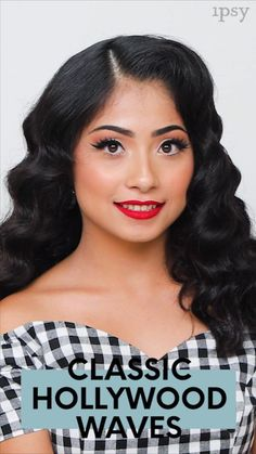 Ideas For Hair Waves Video Hollywood Vintage Waves Hair, Vintage Curls, Vintage Glam, Box Braids Hairstyles, Cool Hairstyles, Hollywood Glam Hair, Classic Hollywood, Old Hollywood Waves, Hollywood Model