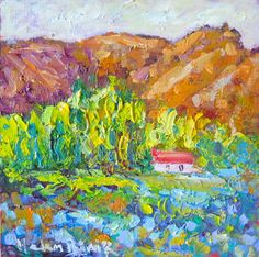 I love all the old cottages around Otago, the Autumn colours are amazing too, every where I look is inspiration. Mountain Cottage, Vibrant Colors, Autumn Colours, Family Of 5, Great Walks, Old Cottage, Palette Knife Painting, Impressionist, Fine Art Prints