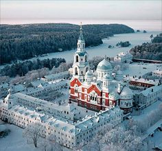 Valamo Monastery – Valaam-Russia restored - restoration of the Transfiguration of the Saviour Cathedral complete in 2003 Beautiful Castles, Beautiful Buildings, Beautiful Places, Russian Architecture, Beautiful Architecture, Places Around The World, Around The Worlds, The Transfiguration, Russian Orthodox