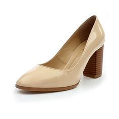 ZriEy womens Pointed Toe Chunky heel Pumps for Work Dress Party Nude size 7 *** Read more at the image link.-It is an affiliate link to Amazon. #WeddingShoes