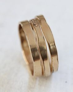 Organic shaped 14k gold ring - Praxis Jewelry