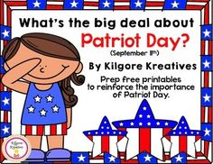 This prep free collection of activities for Patriot Day will help students understand the importance of this day of remembrance.  Included in this collection are:  1.  Short summary of Patriot Day and its origin  2.  No staple mini book to reinforce the meaning of Patriot Day.