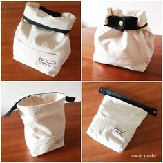 Love this canvas bag! Sewing Hacks, Sewing Tutorials, Sewing Patterns, Fabric Crafts, Sewing Crafts, Sewing Projects, Sac Lunch, Diy Sac, Fabric Bags